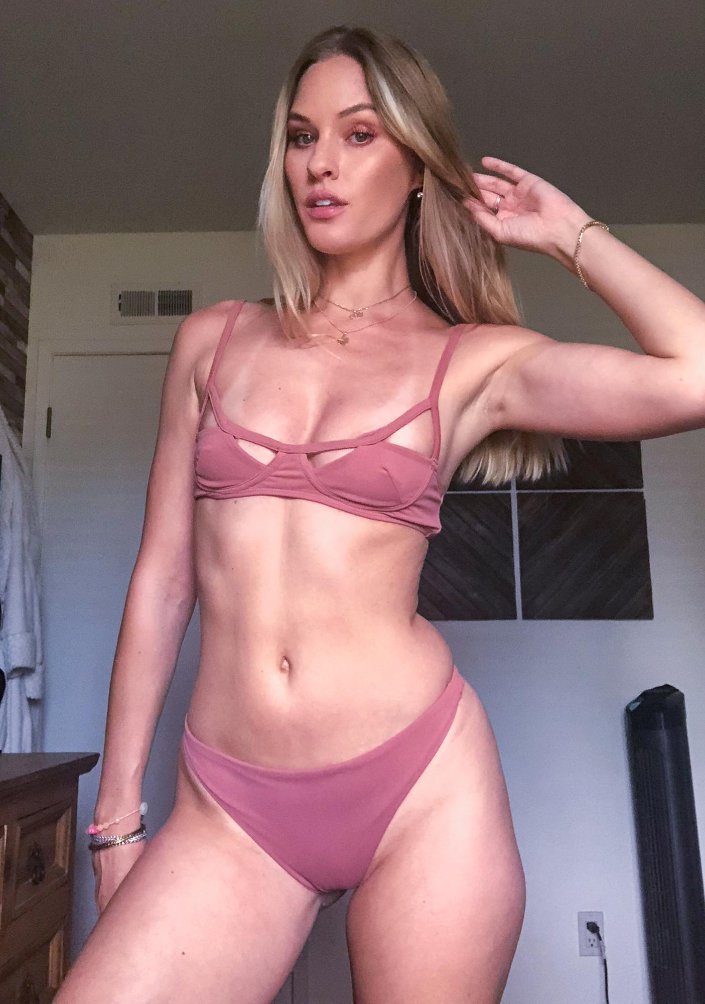 Siempre Golden Gemini Cut Out Bikini Top