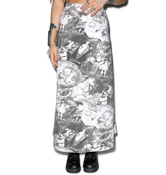 American Deadstock Baroque As A Joke Maxi Skirt