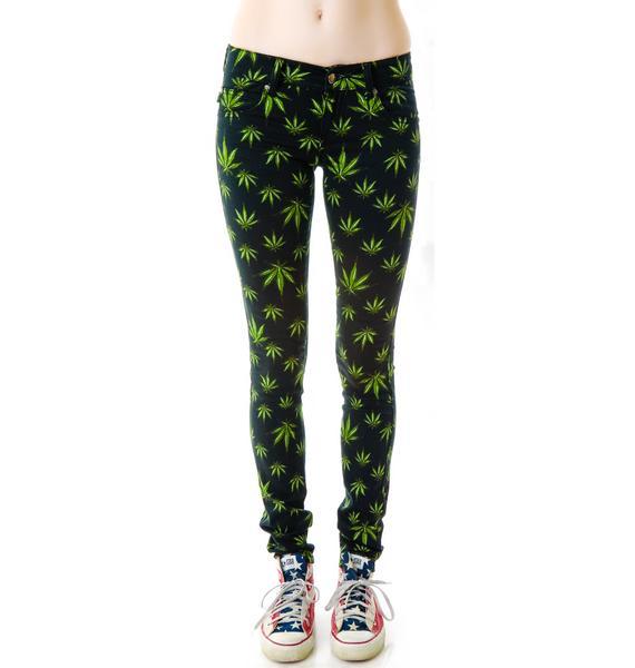 Tripp NYC Smoke Grass Skinny Jeans