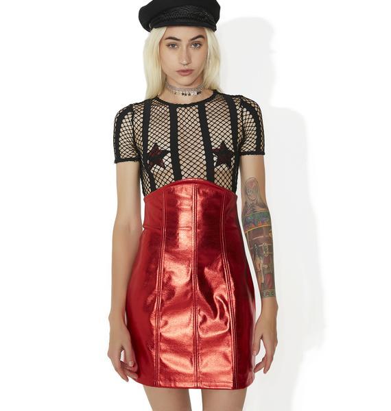 Kiki Riki High Profile Metallic Bodycon Skirt