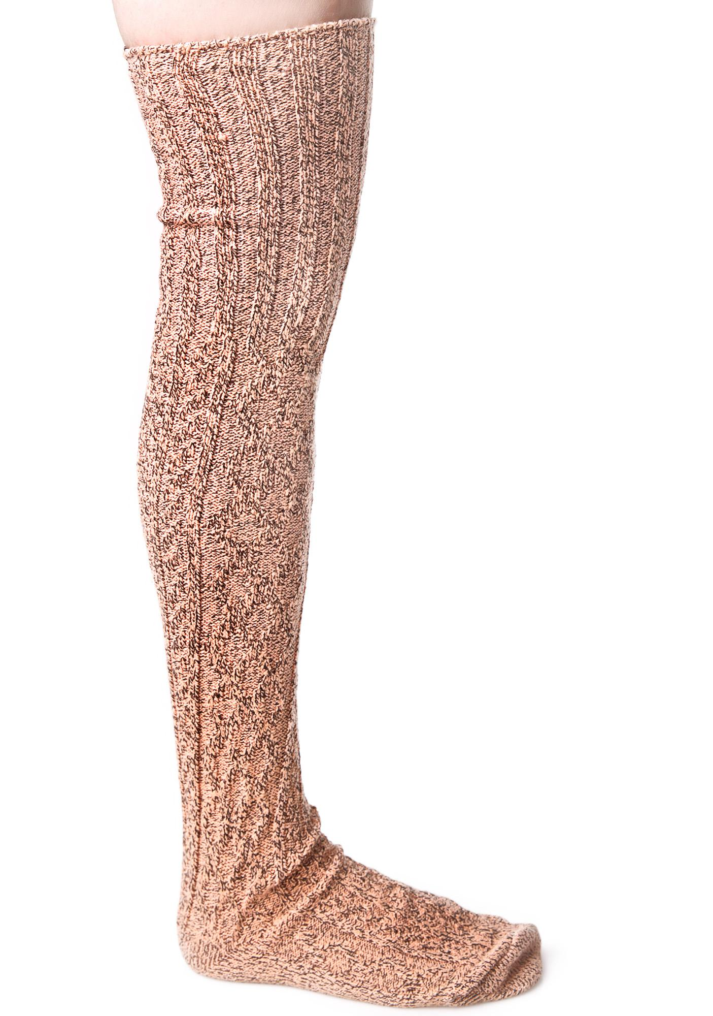 Tangelo Thigh High Socks