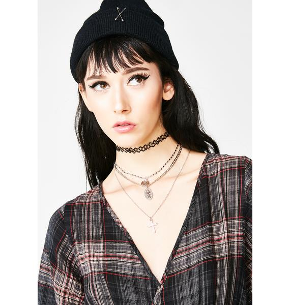 Devout Believer Layered Necklace