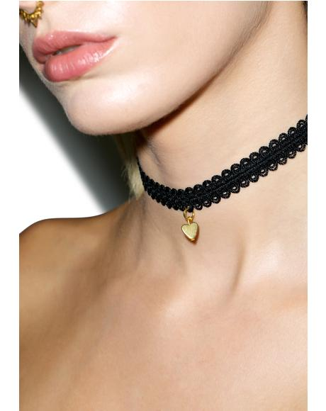 The Golden Heart Choker