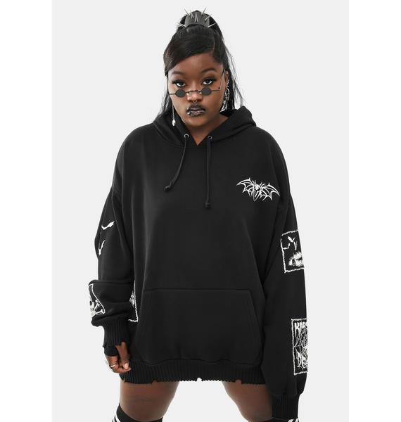Dolls Kill Her Haunted Heart Graphic Hoodie