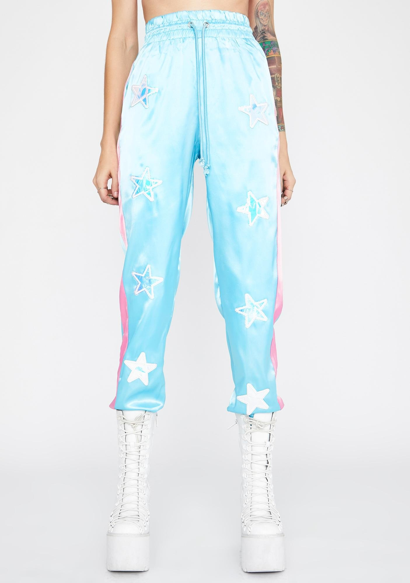 Show Stopper Satin Joggers