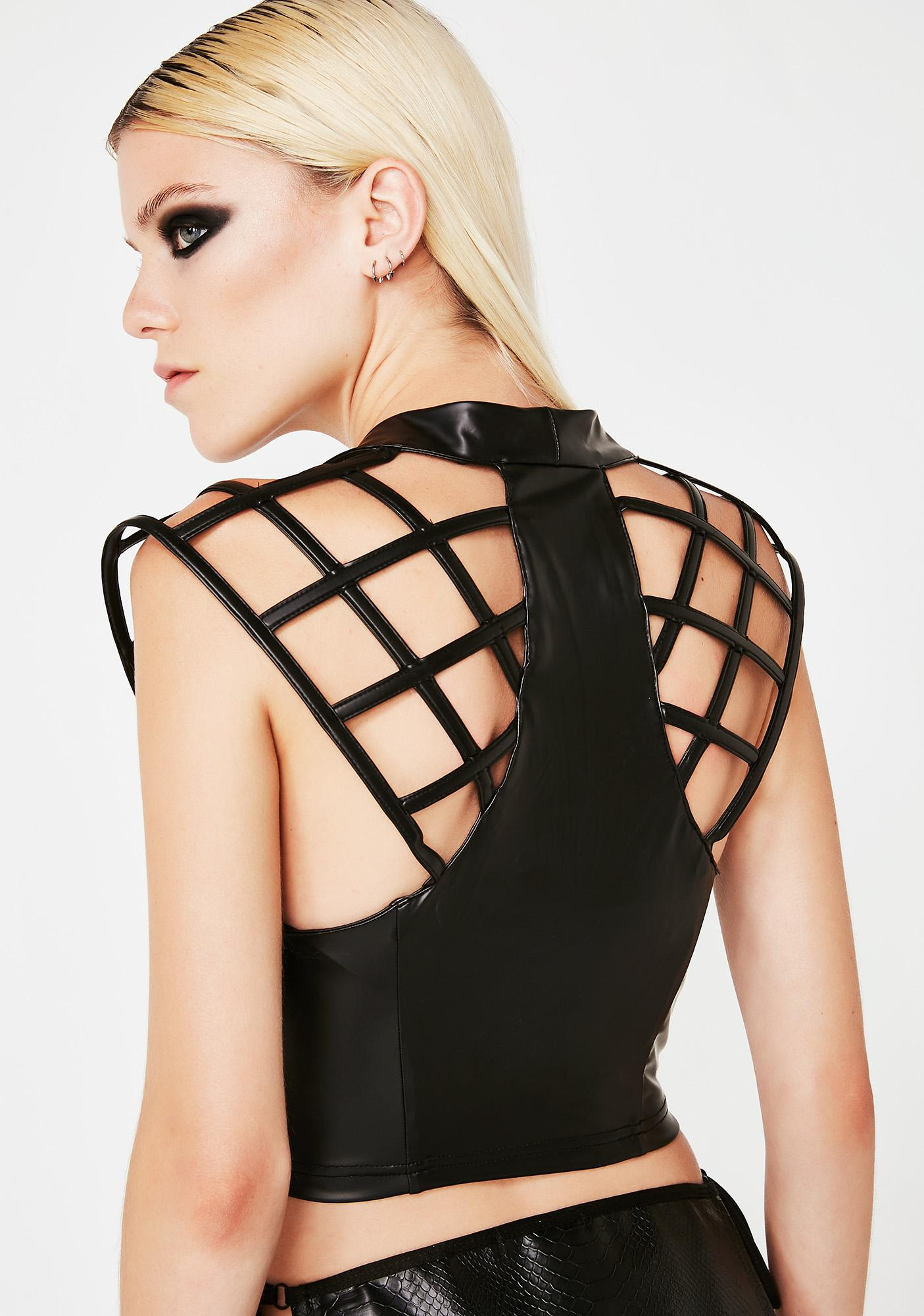 Club Exx Techno Sorceress Cage Top