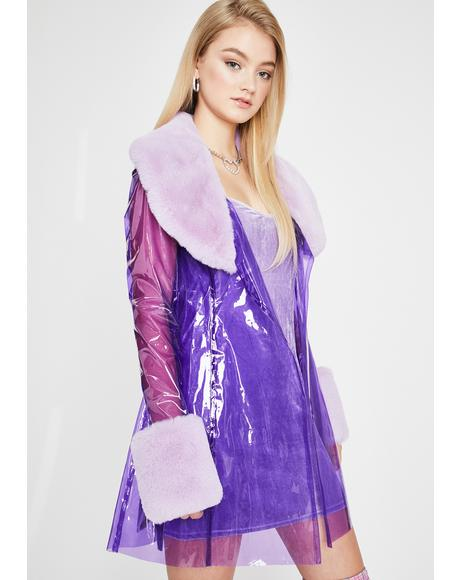 Primadonna Girl Clear Trench Coat