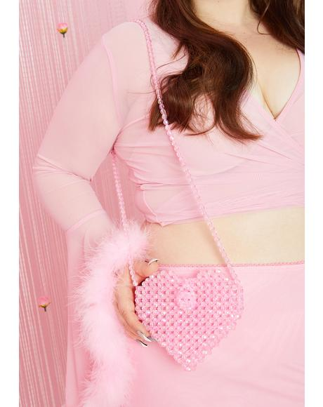 Bubblegum Love The Attention Beaded Bag