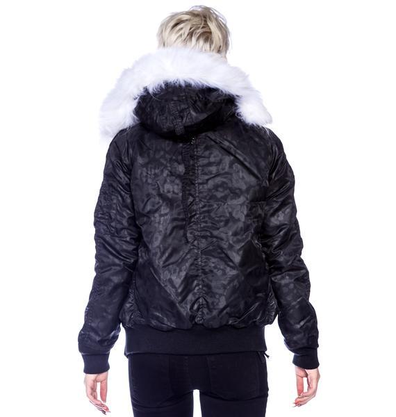 Joyrich Hidden Leopard Parka Jacket