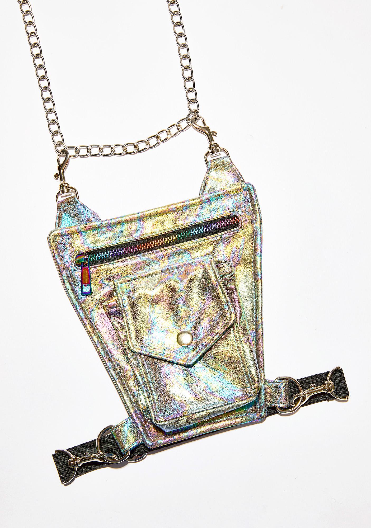 Club Exx Rainbow Raider Chain Hip Bag