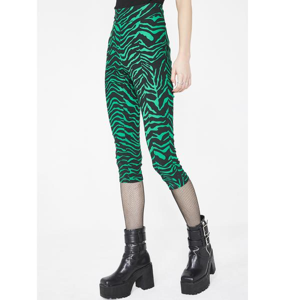 Sourpuss Clothing Zebra Sugar Pie Capris
