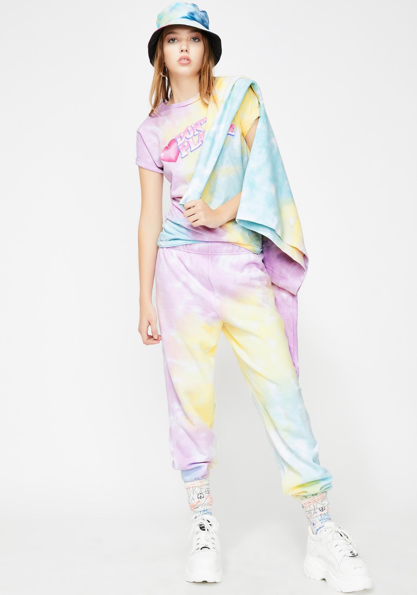 By Samii Ryan Don't Play Me Tie Dye Sweats