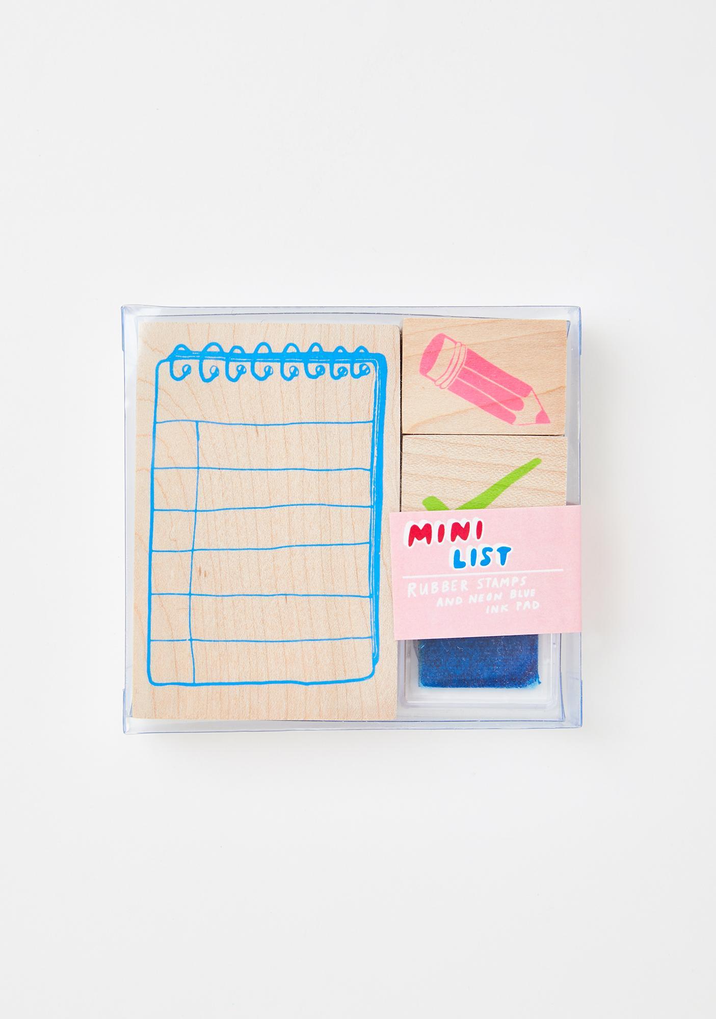 Yellow Owl Workshop Mini List Rubber Stamp Kit