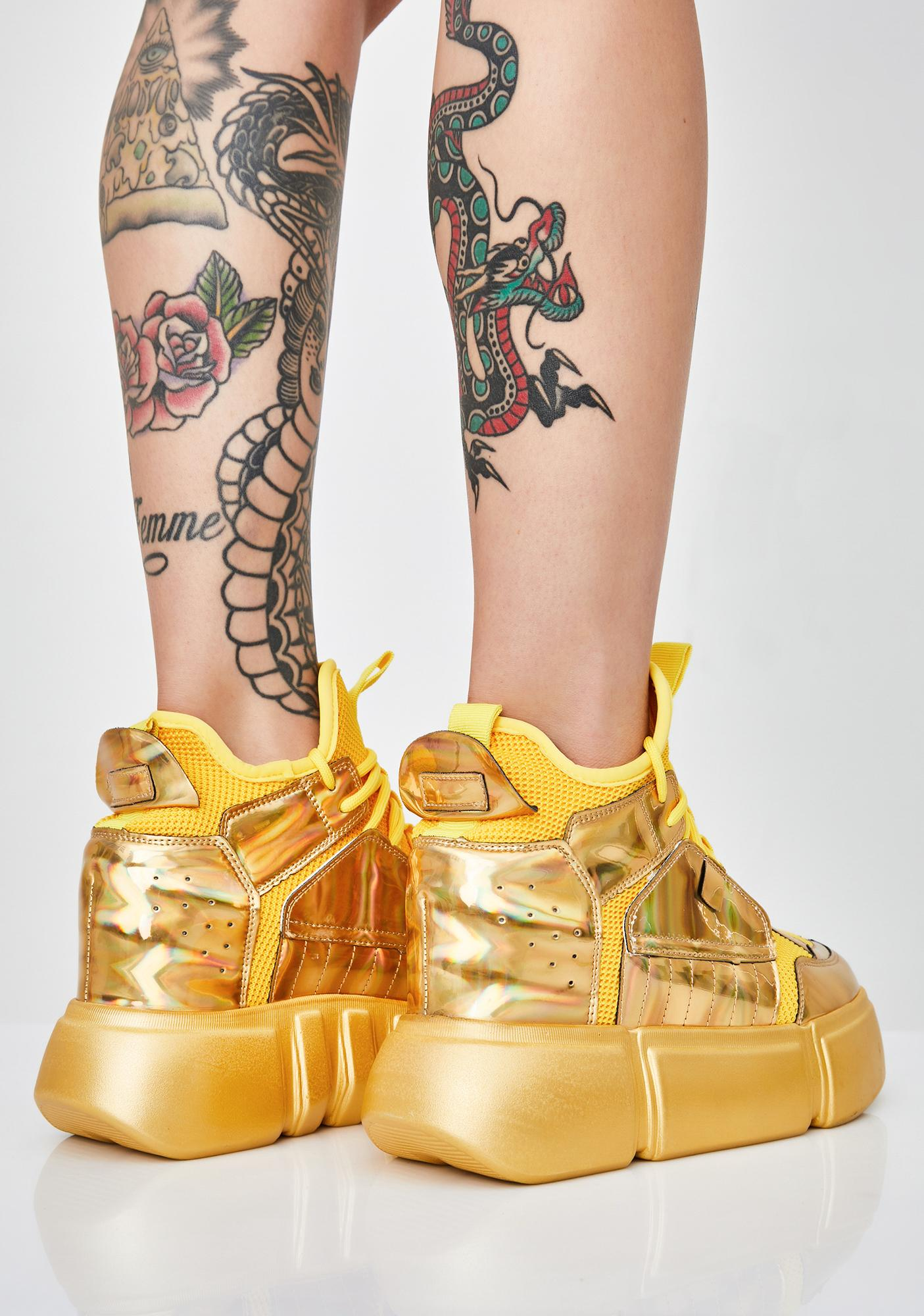 Anthony Wang Medallion Moon Invader Platform Sneakers