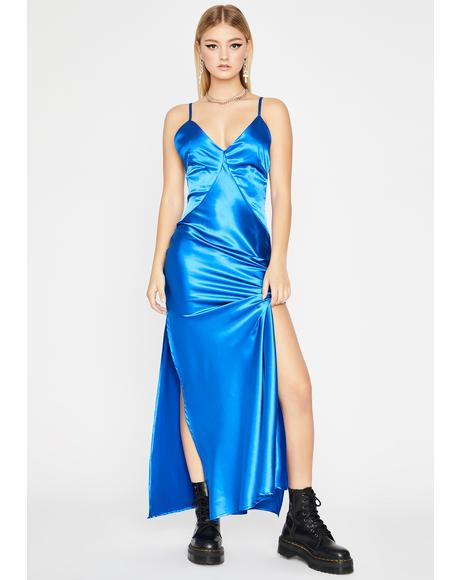 Cobalt Slow Dance Maxi Dress