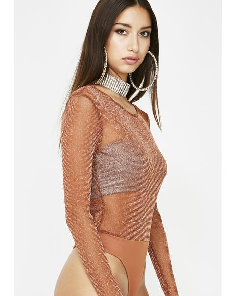Sheer Trouble Mesh Bodysuit