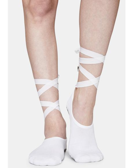 The Icy Honey Lace Up Socks