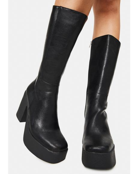 Slick Nicks Knee High Boots
