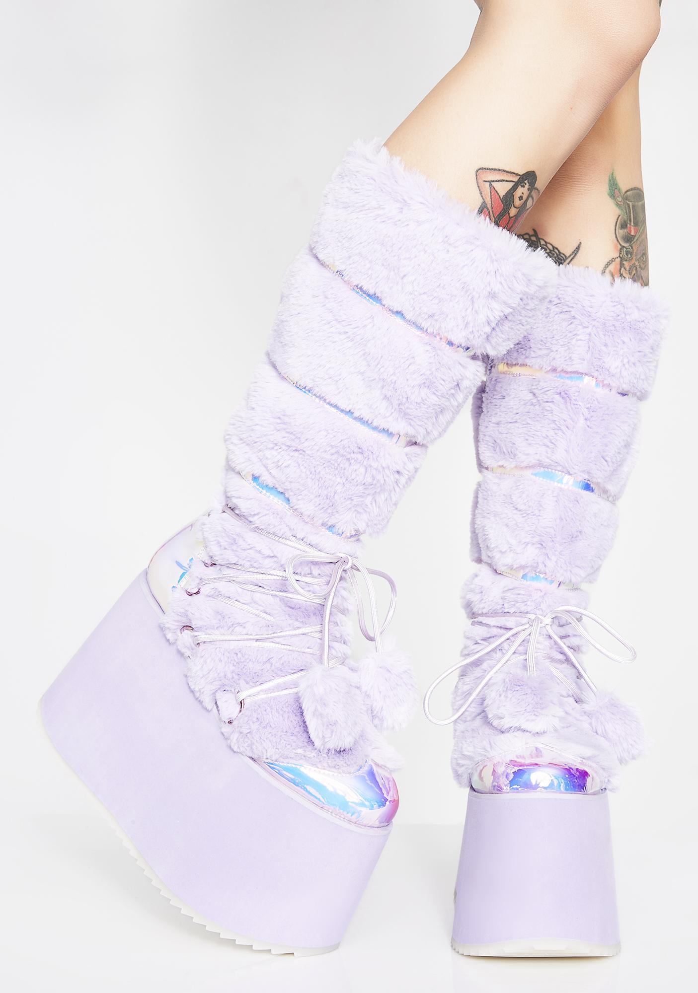 Club Exx Glamtopia Galaxy Platform Boots
