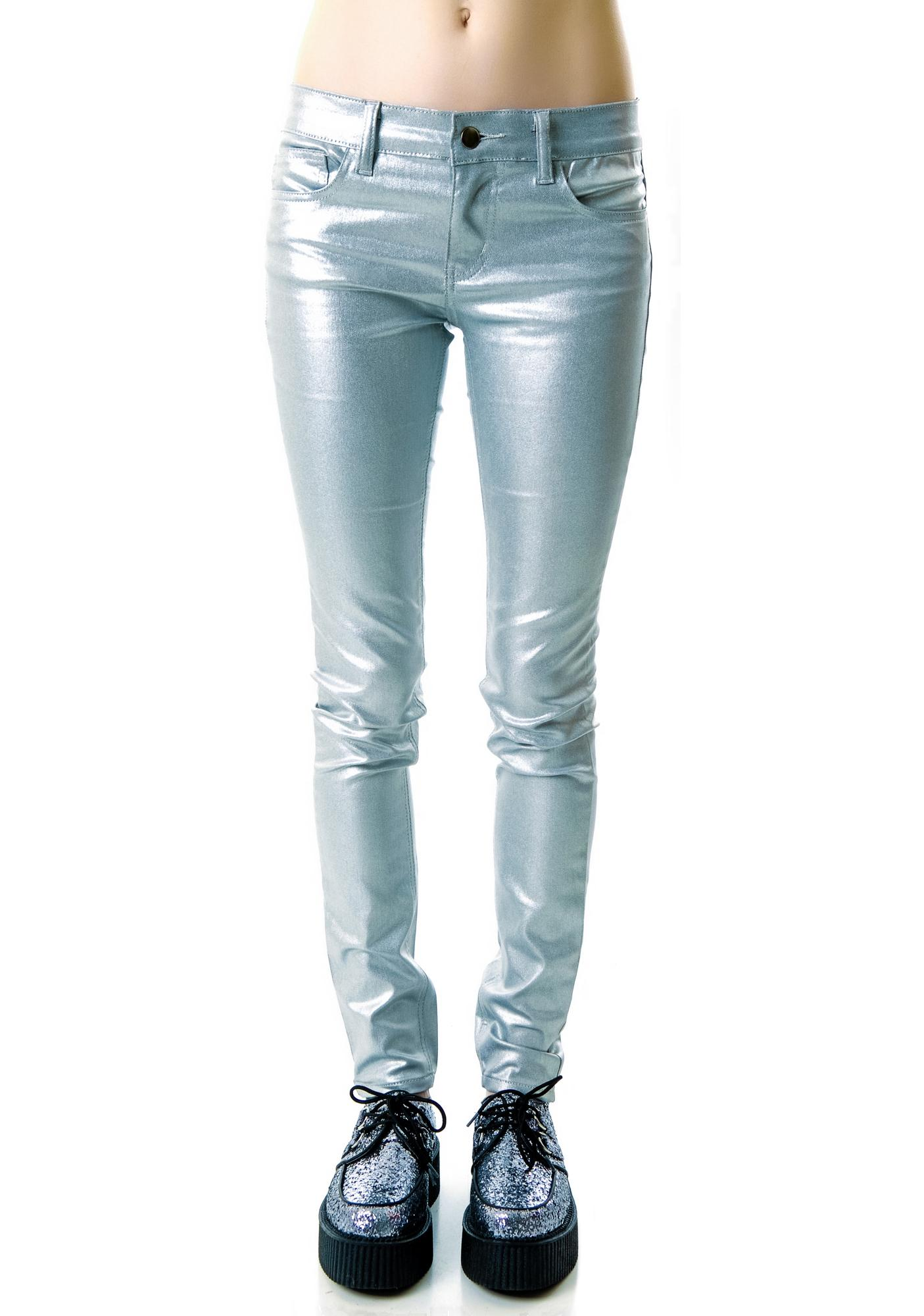 Lip Service Shimmer Stretch Jeans