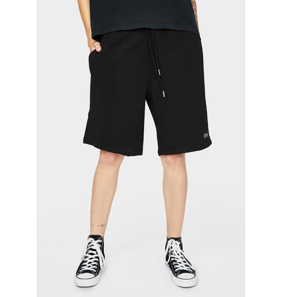RIPNDIP Black Peek A Nermal Sweat Shorts