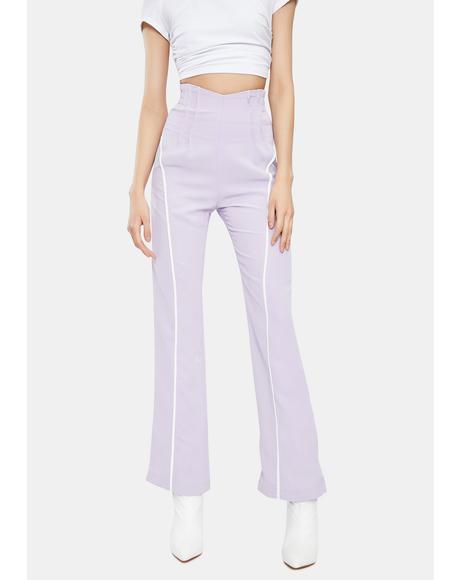Lavender Polly High Waist Pants