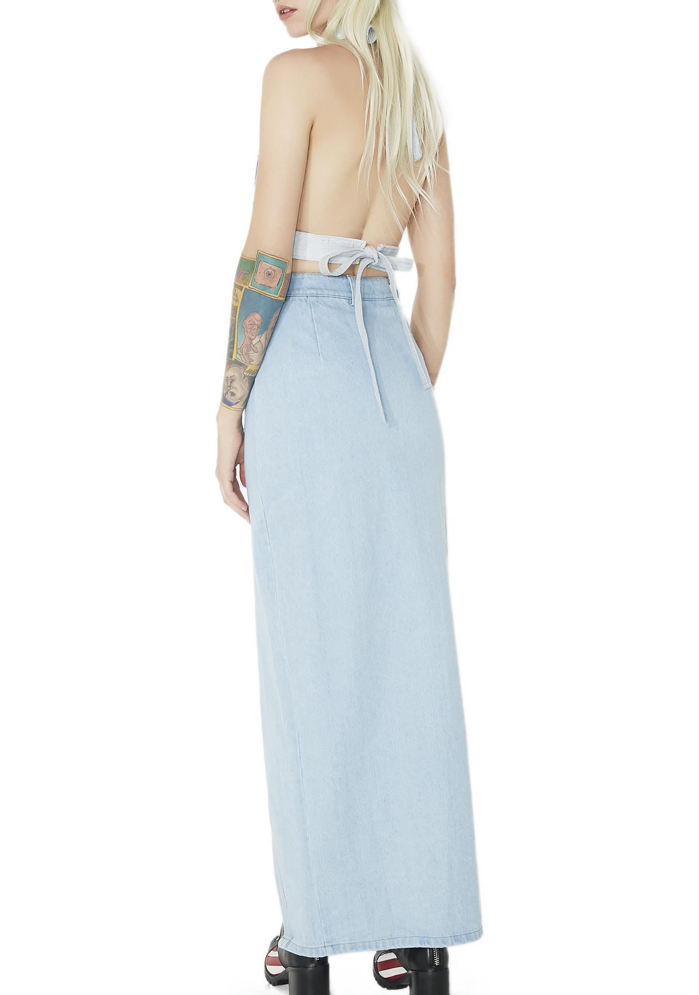 Indigo Skies Maxi Skirt