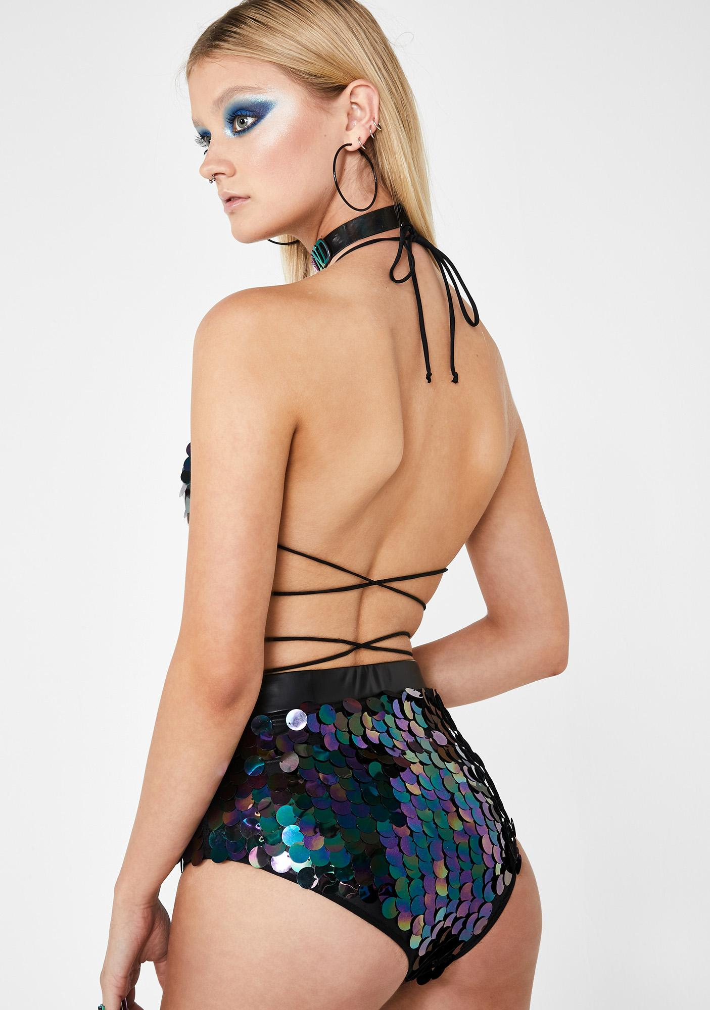 Club Exx Nocturnal Groove Sequin Shorts