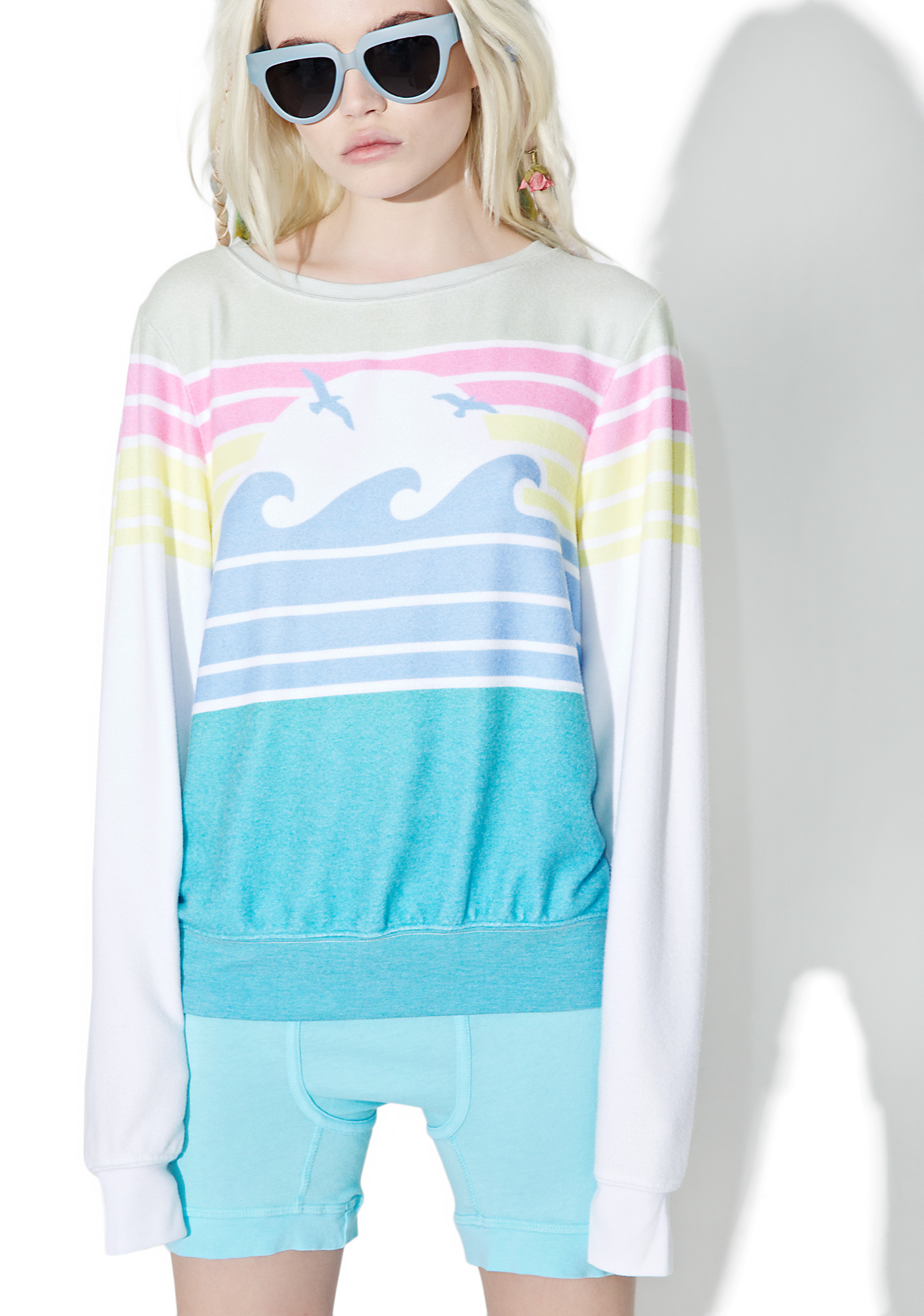 Wildfox Couture Vintage Holiday Baggy Beach Jumper