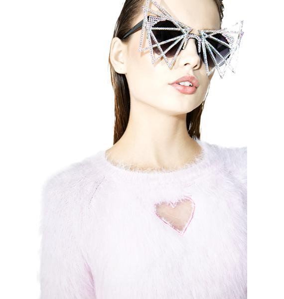 one spo Heart Warm Knit Top