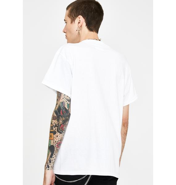 Petals and Peacocks White Lust Graphic Tee