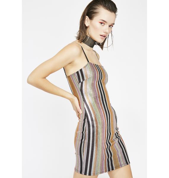 Juiced Alwayz Shinin' Metallic Dress