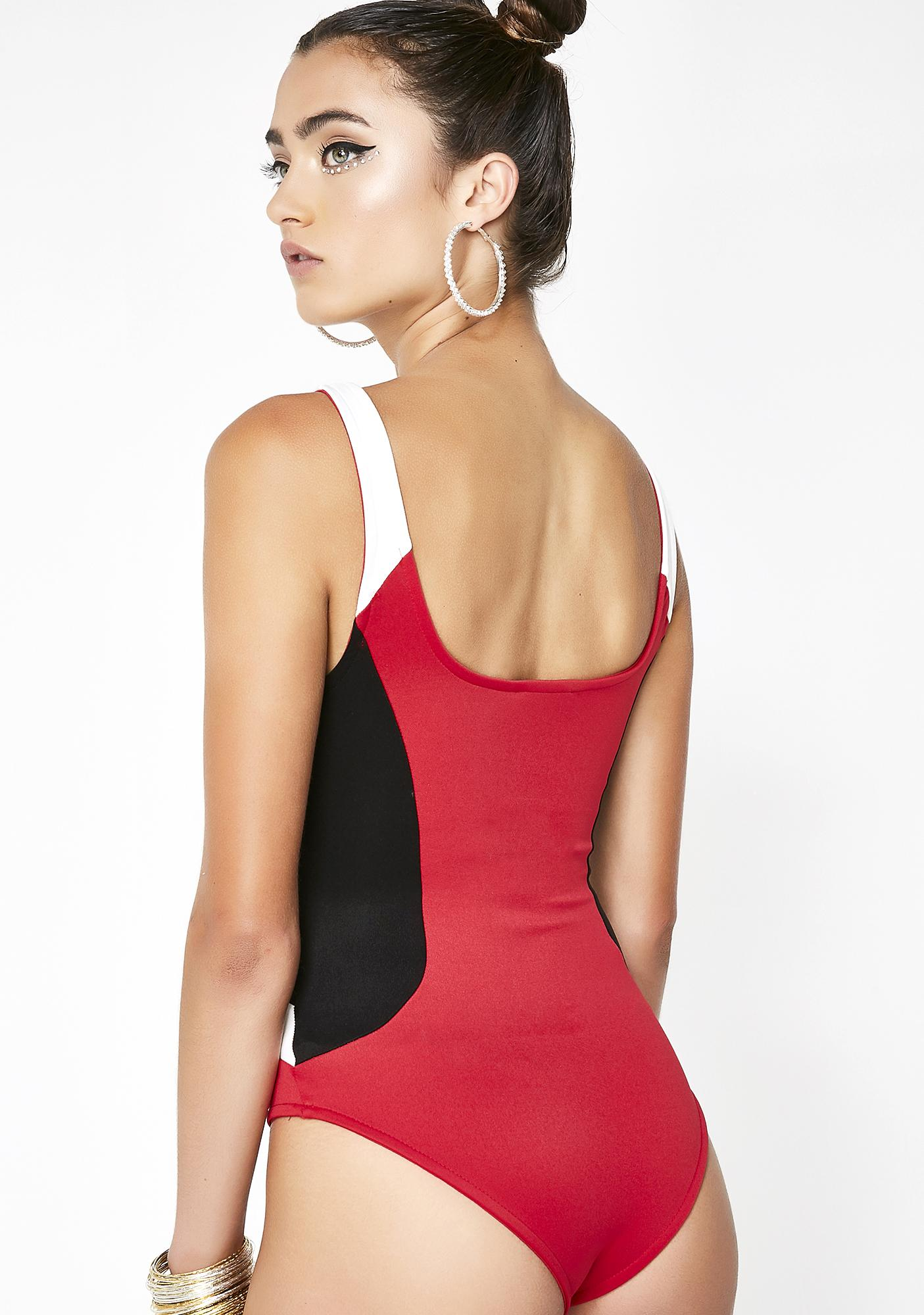So Selfish Color Block Bodysuit