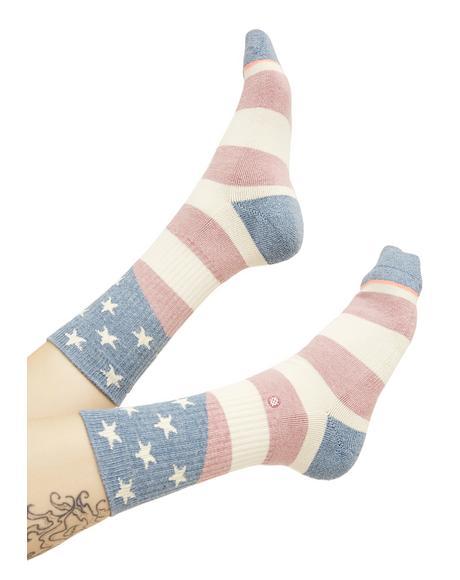 Miss Independent Crew Socks
