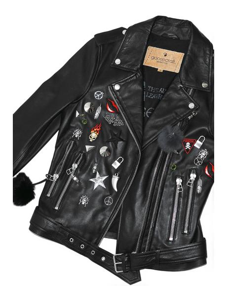 Pin Biker Jacket