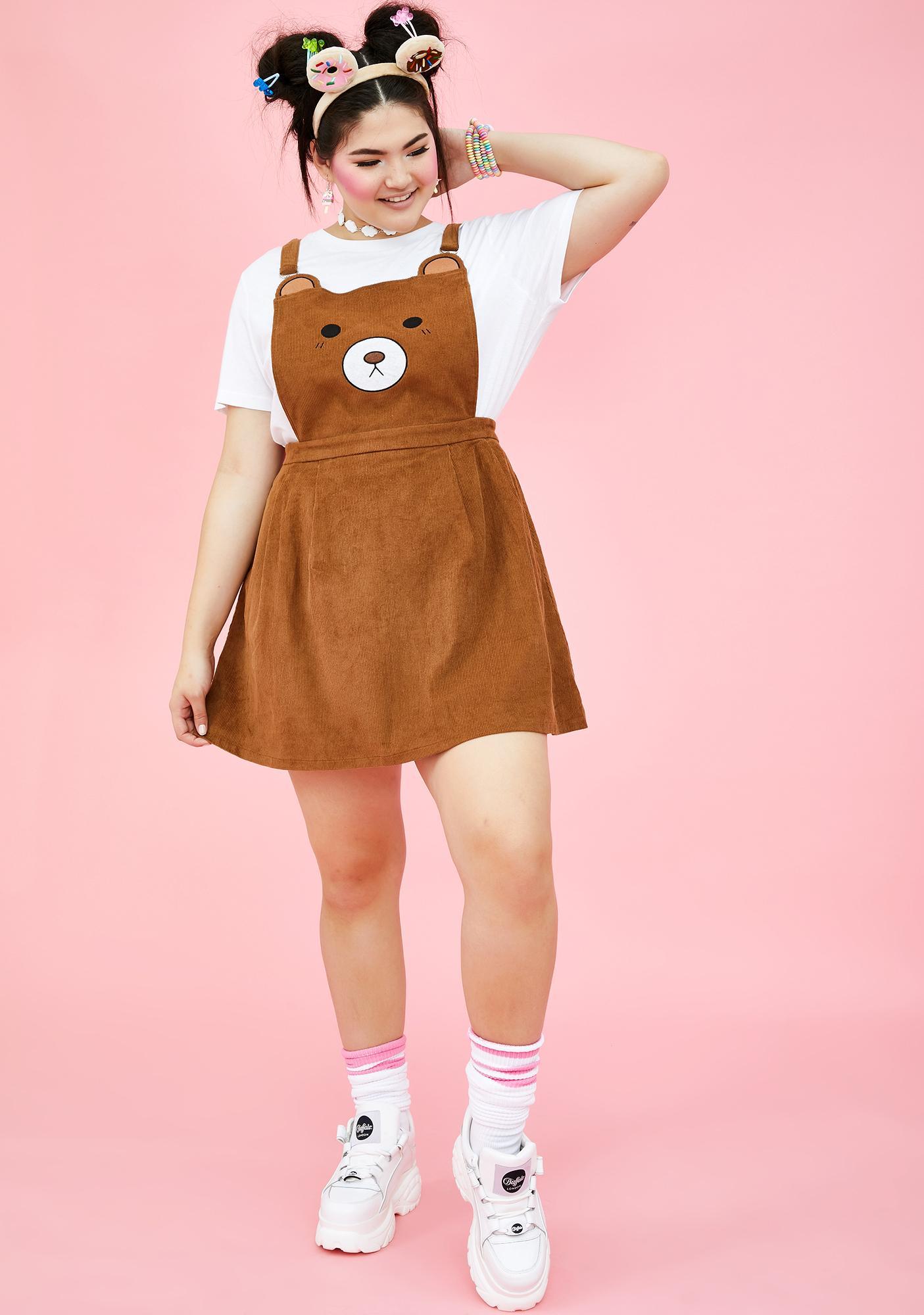 Sugar Thrillz Your BB Bear Pinafore Dress