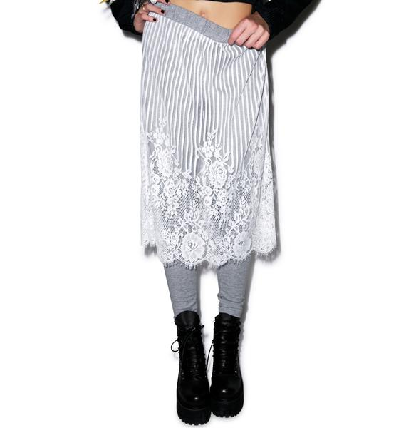 Black Swan Lace Layered Skirt