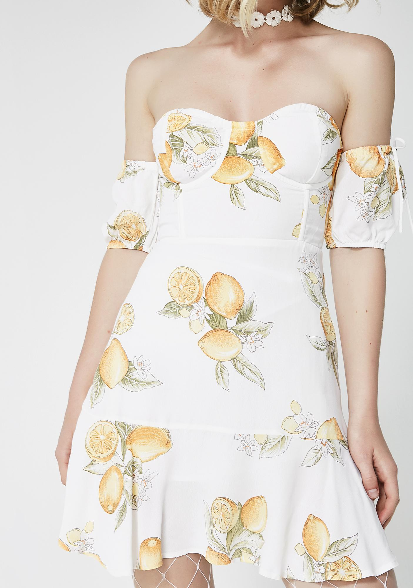For Love & Lemons Lemonade Mini Dress