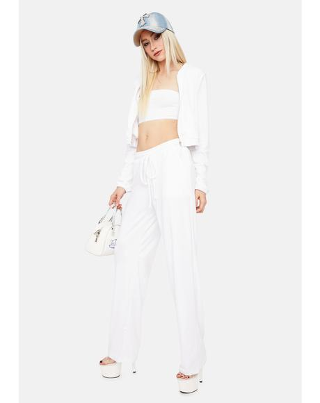 Pure Chill Times Tube Top Velour Jacket Set