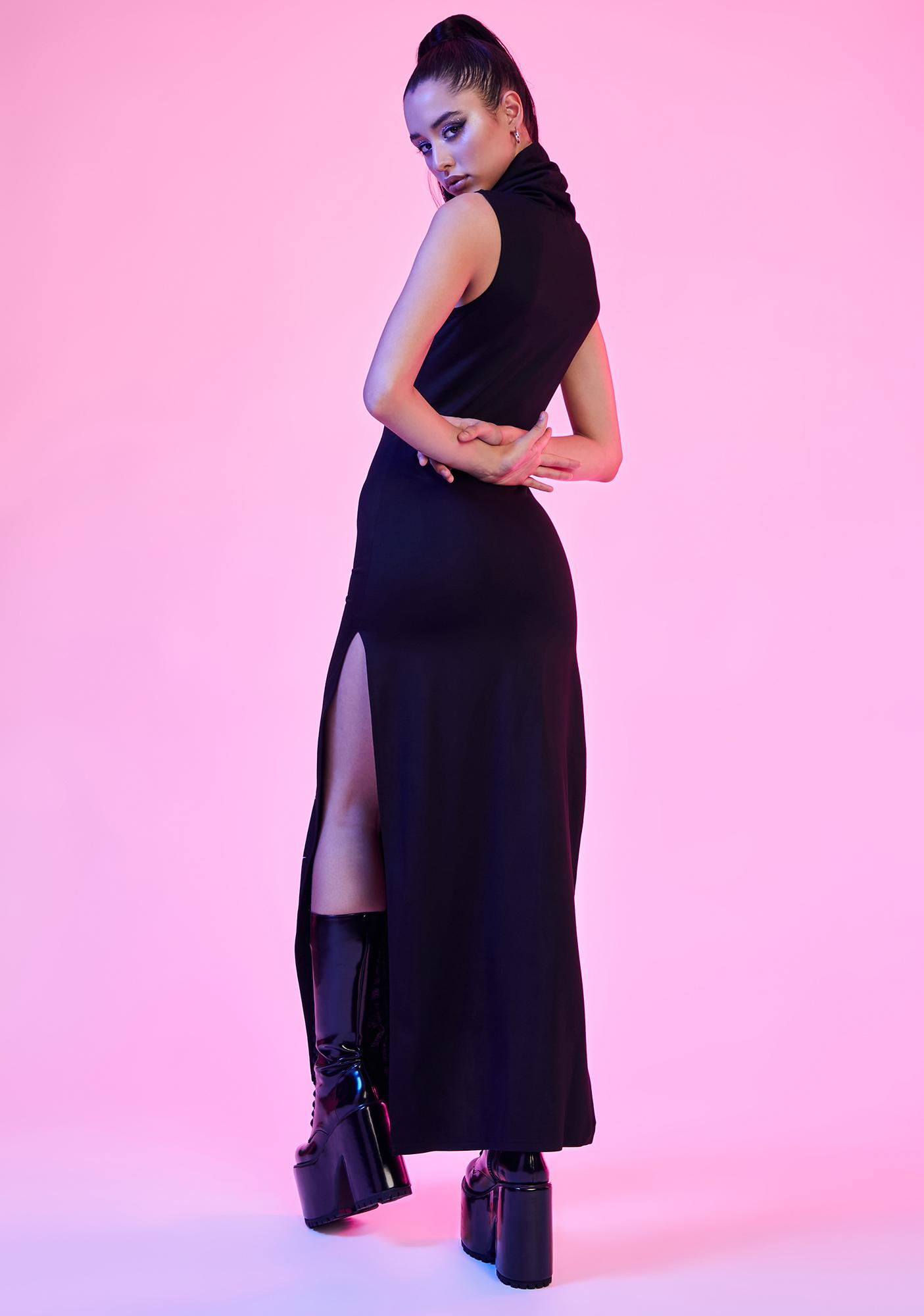 Current Mood So Defenseless Reflective Maxi Dress