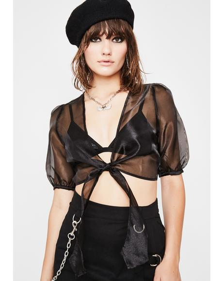 Unholy Love Sheer Blouse