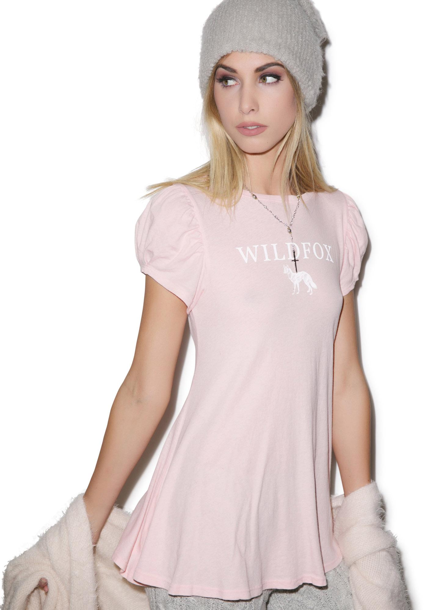 Wildfox Couture Foxy Wildfox Austen Lace Up Tee