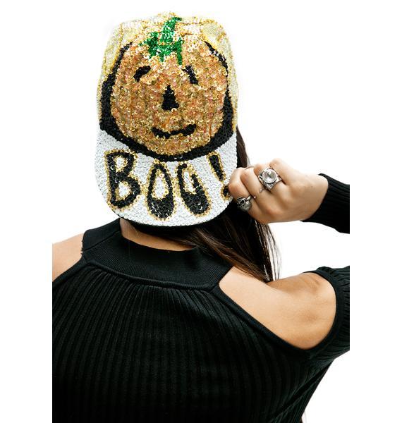 Boo Sequin Hat