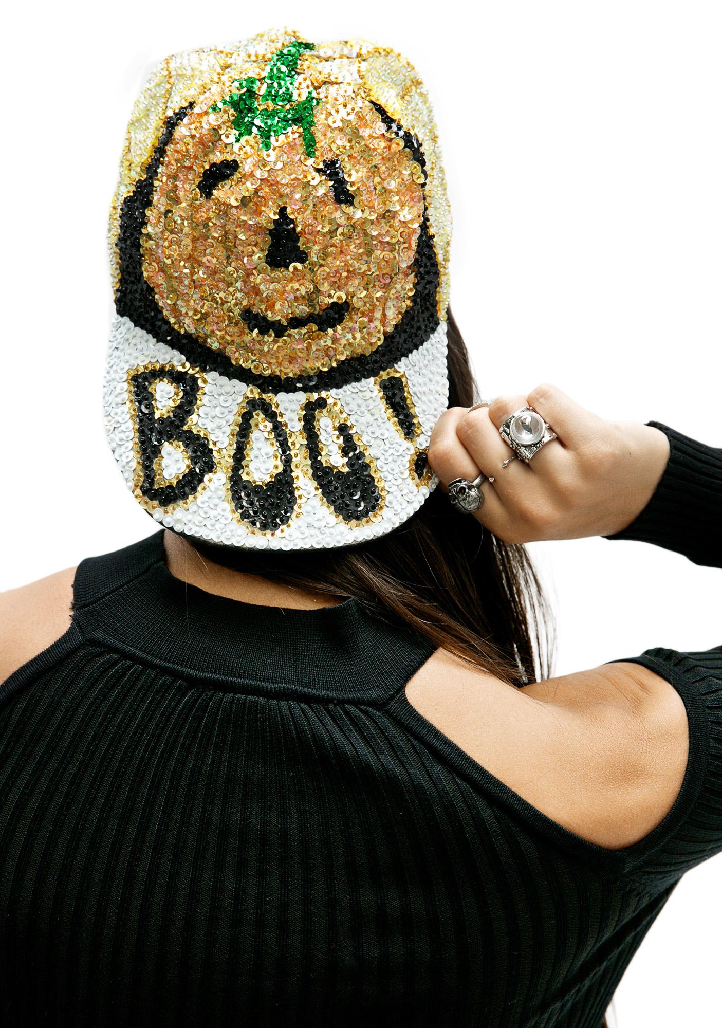 Boo Sequin Hat