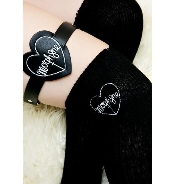 Morph8ne Evil Heart Logo Knee High Socks