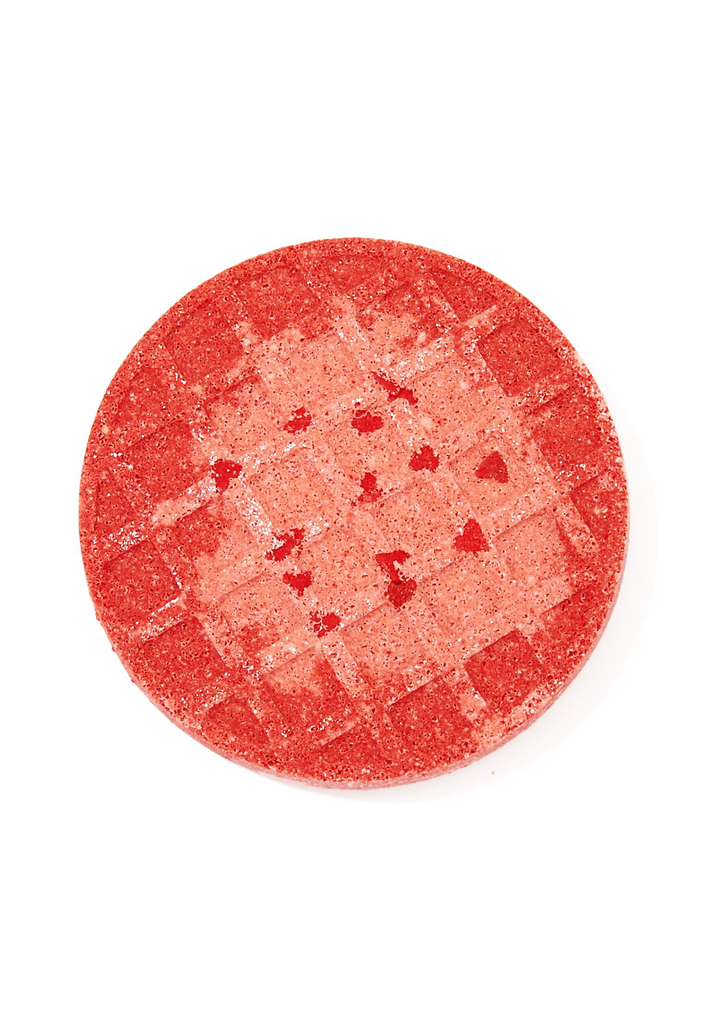 Sugar Milk Co Strawberry Jam Waffle Bath Bomb