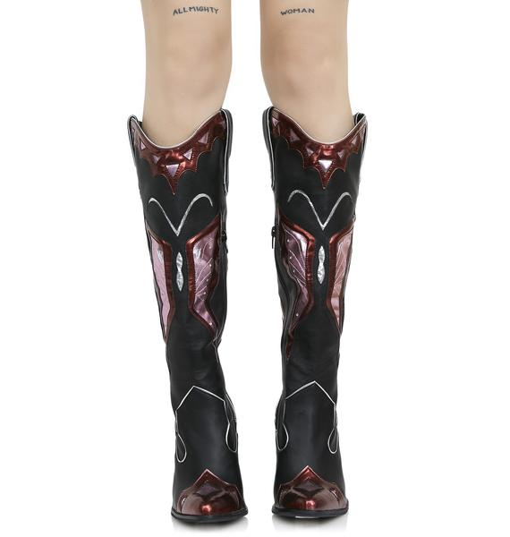 Current Mood Painted Lady Cowboy Boots