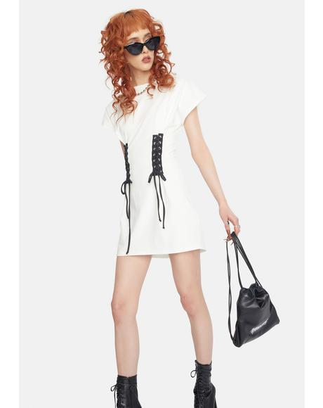 Exactly Baby Lace Up T-Shirt Dress