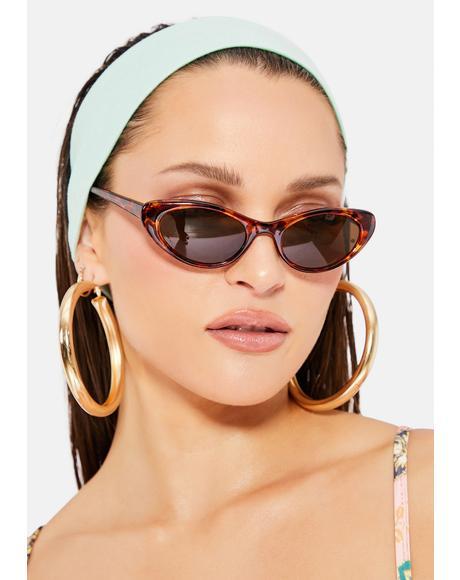 Tortoiseshell Lily Cat-Eye Sunglasses