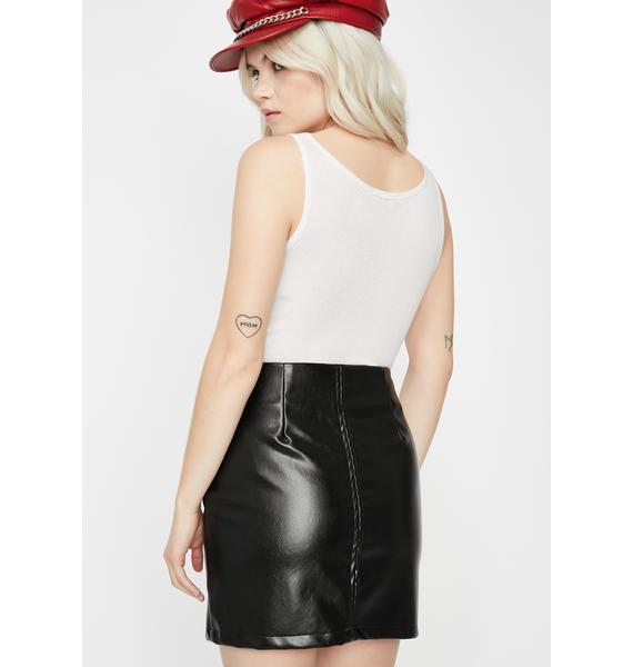 Moment Of Truth Zipper Skirt